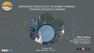 15 - IMPROVING PRODUCTIVITY IN SHRIMP FARMING TOWARDS